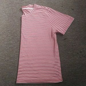 Red abd white striped t-shirt